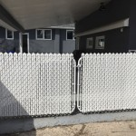 White Vinyl Fence Gate with White Inserts