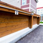 Horizontal Board Parking Fence