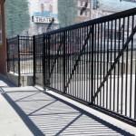 Black Cantilever Gate
