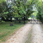 Black Chain Link Cantilever Gate