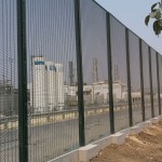 Rampart 358 Welded Wire Installed on Concrete Wall